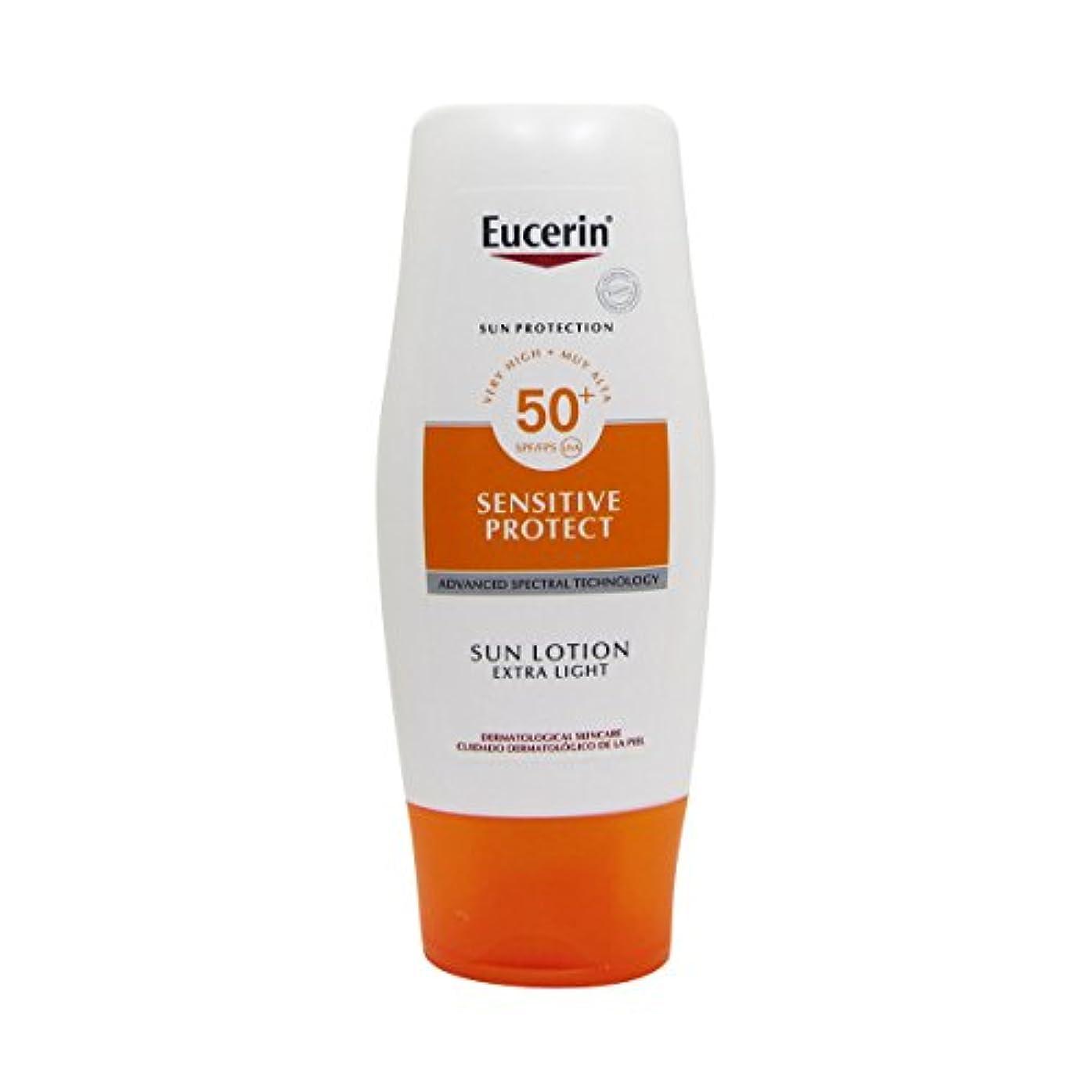 薄い同盟国民Eucerin Sun Extra Light Lotion Spf50 150ml [並行輸入品]