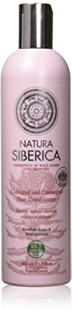 葉を拾うドライアイデアNatura Sibericaカラードヘアダメージコンディショナー、400 ml