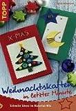 Weihnachtskarten in letzter Minute. Schnelle Ideen im Material-Mix