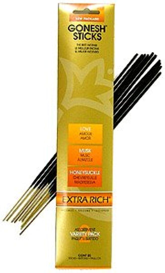 寛容なキャメル油Extra Rich Variety # 2 (愛、ムスク、スイカズラ) – Goneshスティックお香