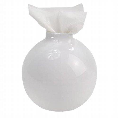 トイレットペーパー ホルダー ペーパーポッド ( 壺型 ホワイト )
