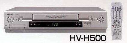[해외]MITSUBISHI HV-H500 VHS 비디오 데크 5 배 지원/MITSUBISHI HV-H500 VHS VCR 5 times compatible
