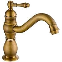 すべての銅ヨーロッパスタイルの浴室の蛇口回転可能な防腐錆防止温水と冷気の混合バルコニーの蛇口
