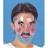 透明フェースマスク 男1