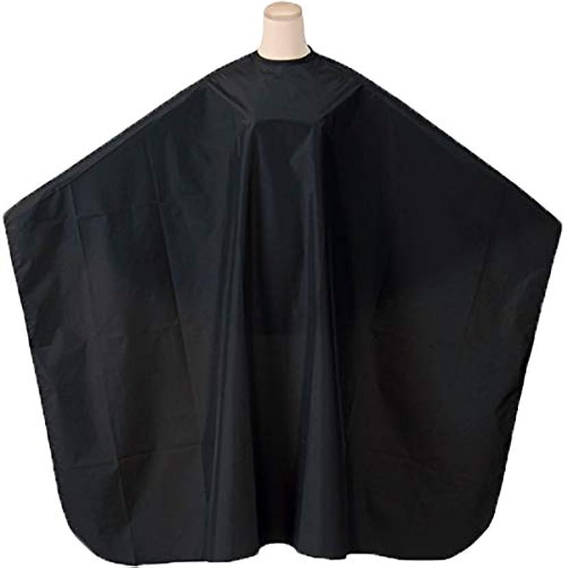 やりすぎ溶岩スポーツエルコ 0230 L&W 袖なし ヘアダイクロス (ロング&ワイド) カラーリング&パーマ&シャンプークロス ELCO (ブラック/首回り60cm)