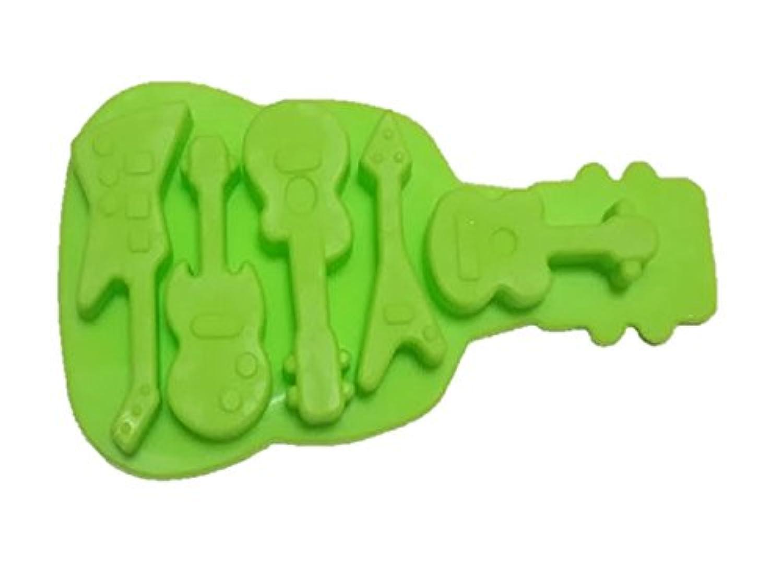 シリコンモールド型 ギター 色グリーン レジン 粘土 せっけん