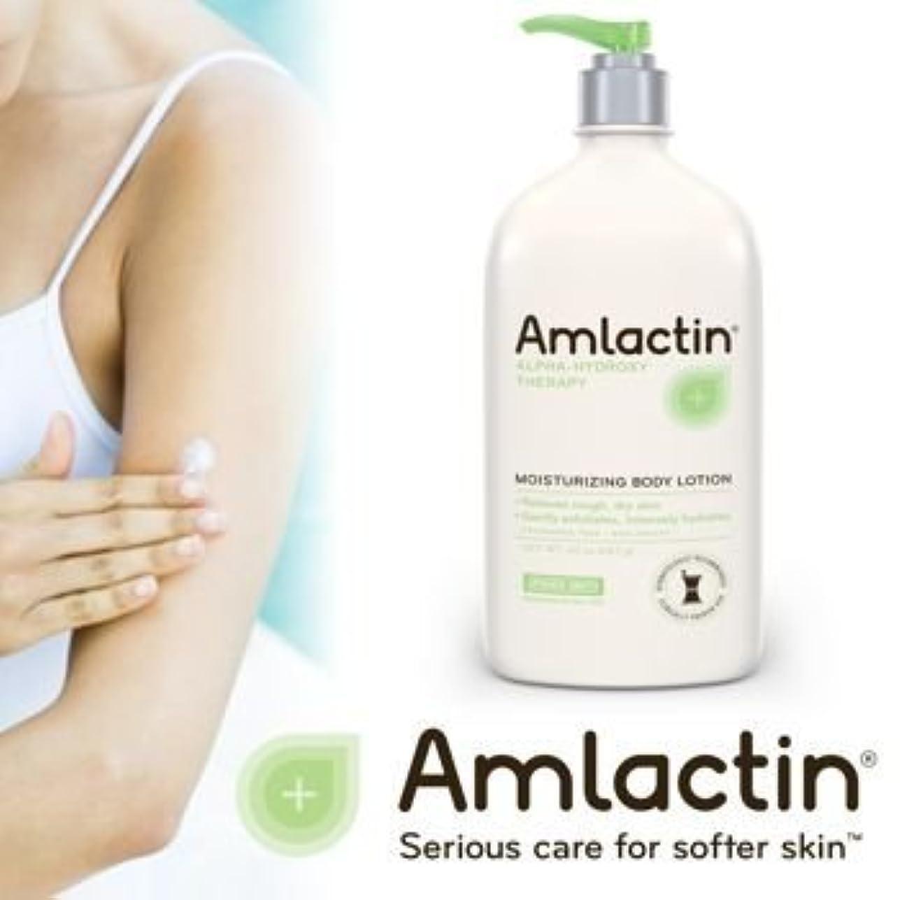 初心者祖母スキムアムラクティン 保湿液 (乾燥肌のため) - 12% 乳酸 - AmLactin 12 % Moisturizing Lotion - 500 g / 17.6 oz (Product packaging may vary)