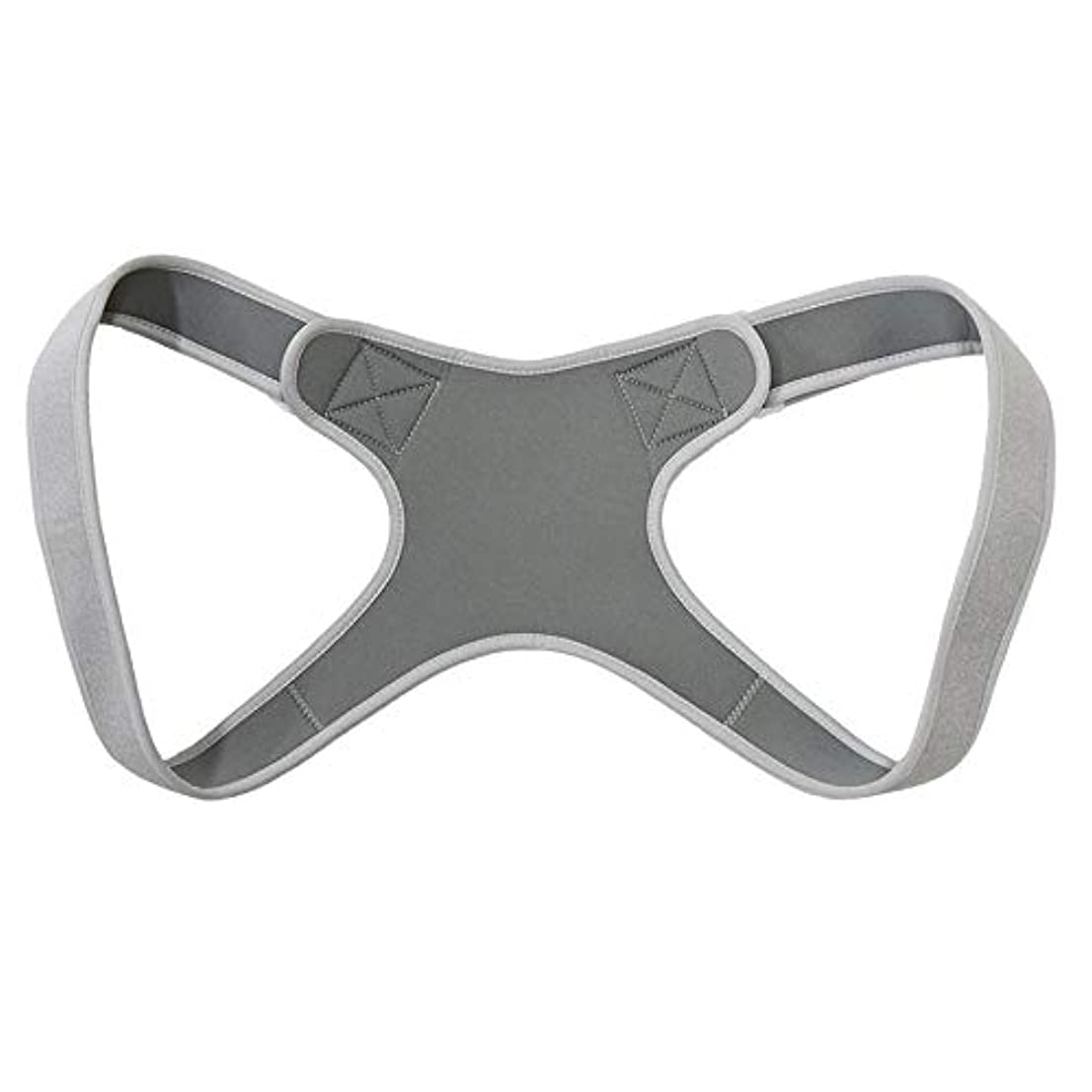 干ばつ実際にとげのある新しいアッパーバックポスチャーコレクター姿勢鎖骨サポートコレクターバックストレートショルダーブレースストラップコレクター - グレー