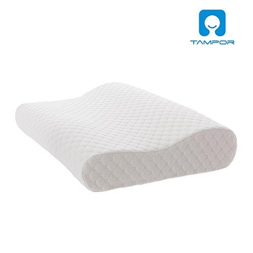 TAMPOR 枕 快眠 低反発枕 ストレス解消 いびき、肩こり防止 頚椎サポート 横向き対応 カバー付き洗え 健康枕 丈50cm 幅30cm