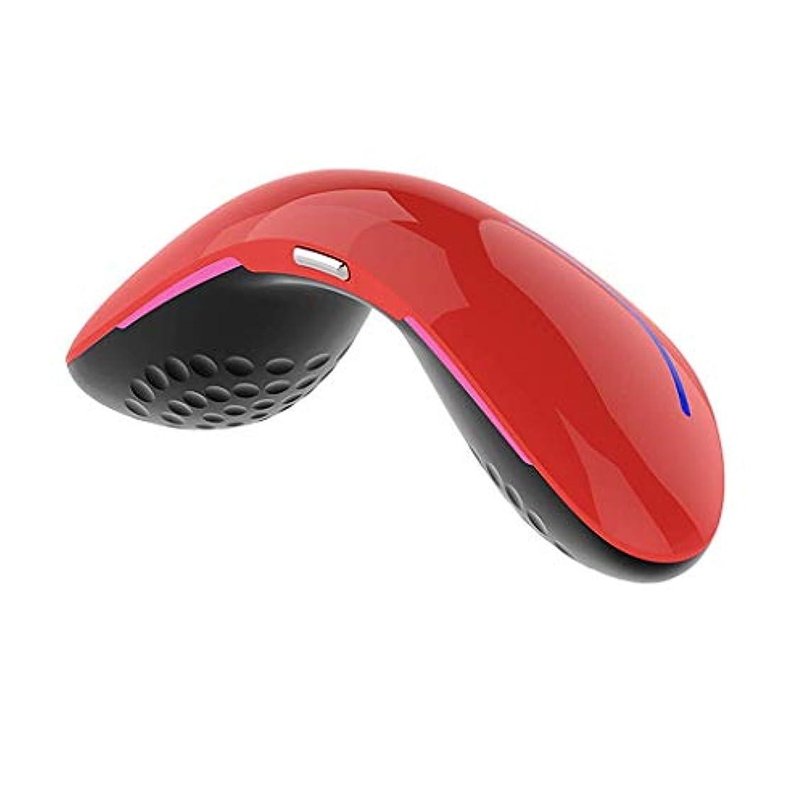ボールスキャンウガンダポータブル電子アイマッサージャー - 充電式振動熱緩和ビジョンケアストレス疲労緩和