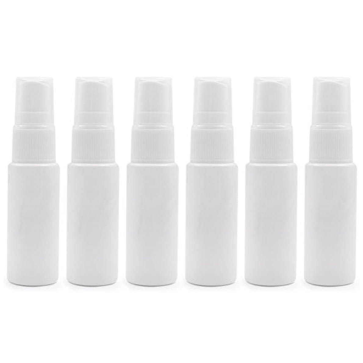 6 PCS Aspire透明プラスチックスプレーボトル 旅行 クリーニング エッセンシャルオイル マウスウォッシュ 香水(10ml 20ml)のための携帯用詰め替え可能な香水瓶スプレー - ホワイト - 20 ml