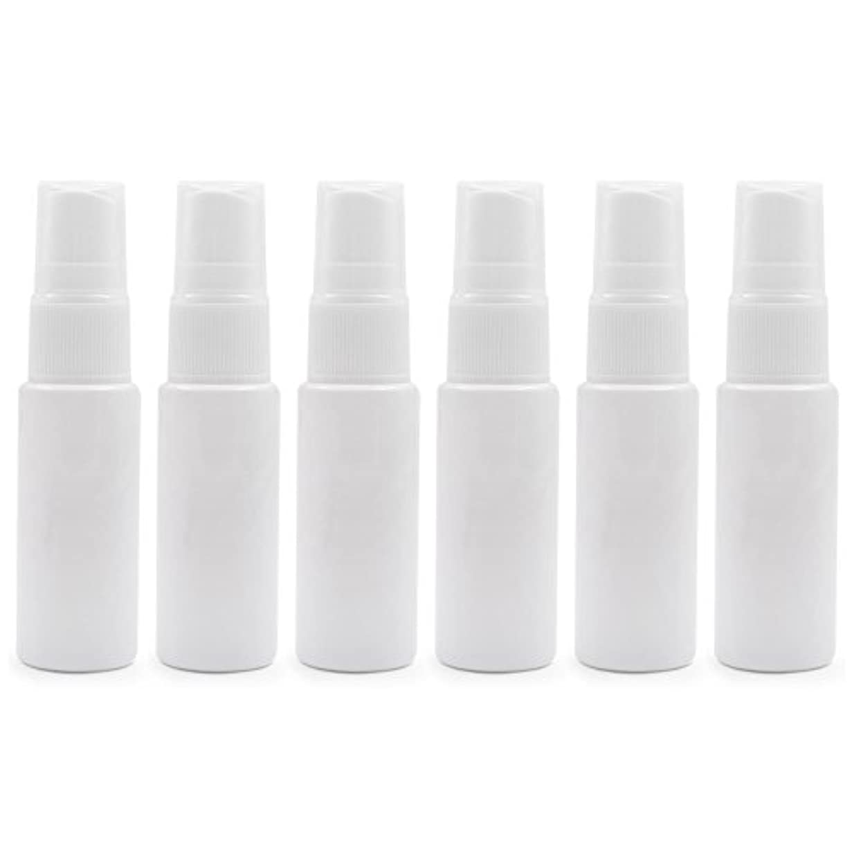 巻き取り下線こしょう6 PCS透明プラスチックスプレーボトル トラベル クリーニング エッセンシャルオイル うがい薬 香水(10ml 20ml)用ポータブルアトマイザー BPAフリー - ホワイト - 20 ml