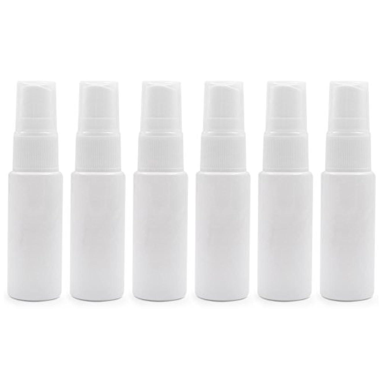 ぬいぐるみそよ風仲間6 PCS Aspire透明プラスチックスプレーボトル 旅行 クリーニング エッセンシャルオイル マウスウォッシュ 香水(10ml 20ml)のための携帯用詰め替え可能な香水瓶スプレー - ホワイト - 20 ml