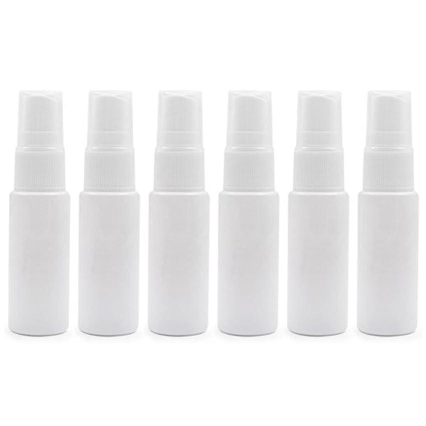 消す密度主張6 PCS透明プラスチックスプレーボトル トラベル クリーニング エッセンシャルオイル うがい薬 香水(10ml 20ml)用ポータブルアトマイザー BPAフリー - ホワイト - 20 ml