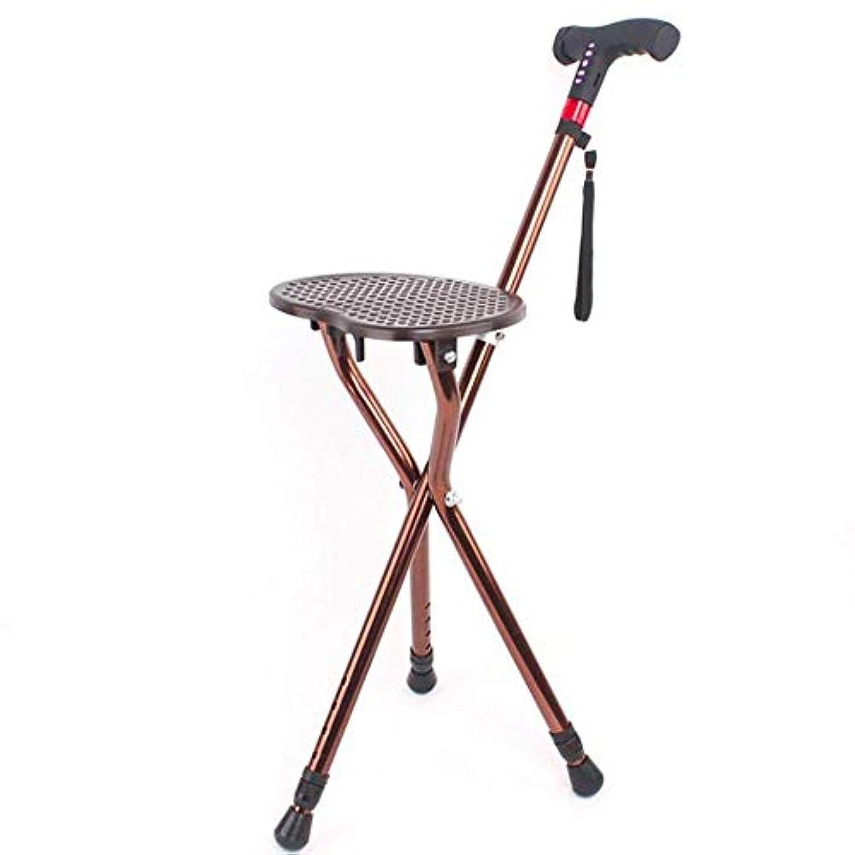 金貸しアサーエイズSXRL MP3音楽機能付きシートとウォーキングスティック、LEDライト人間工学に基づいて設計された高齢者用シートプレート高さ調節可能な杖松葉杖 - ベアリング100kg(85-98cm)