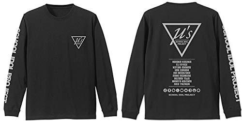 ラブライブ! μ's 袖リブロングスリーブTシャツ ブラック Lサイズ