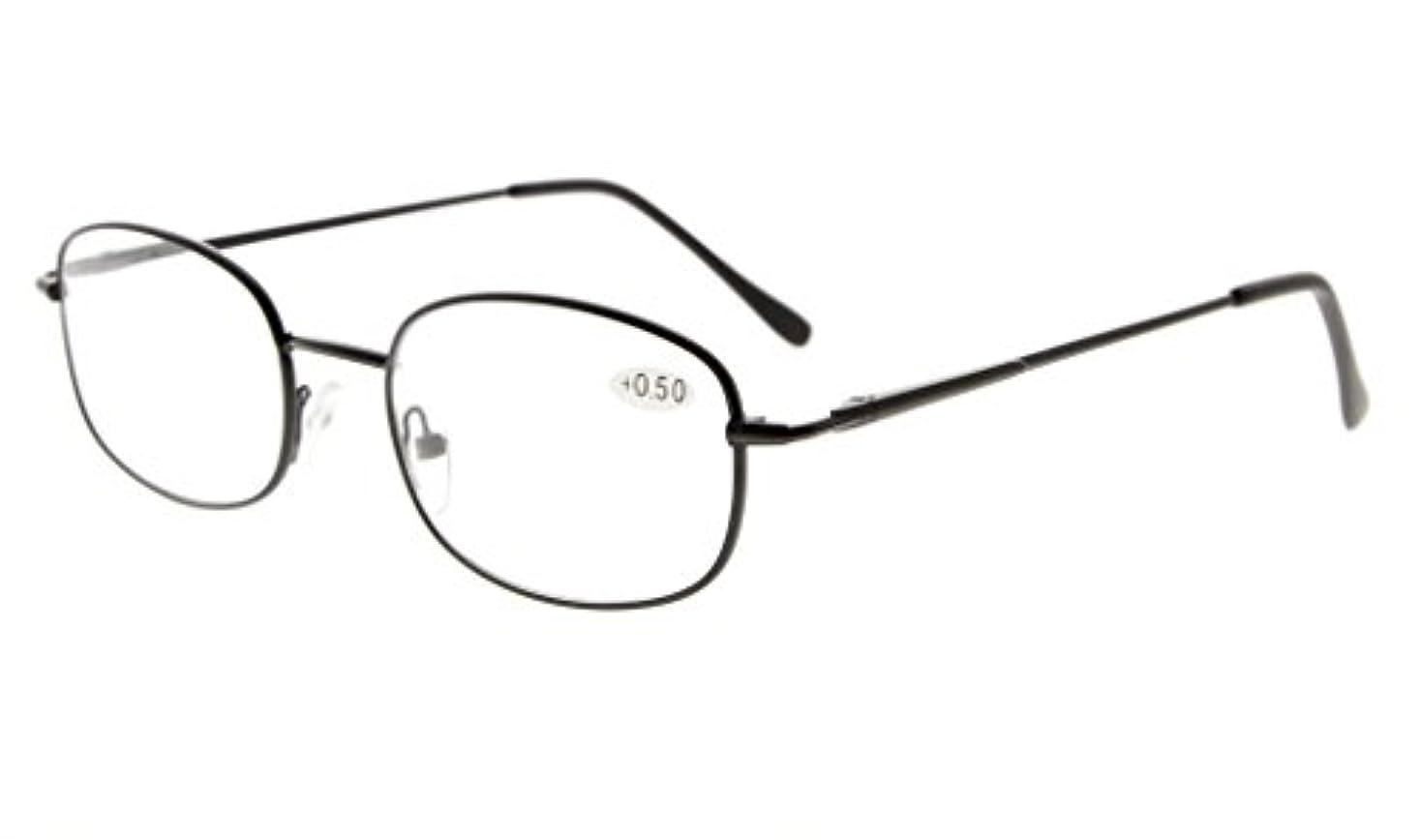 性差別困惑した投げるアイキーパー(Eyekepper)メタルフレーム バネ蝶番式テンプル リーディンググラス シニアグラス 老眼鏡 ブラック +0.75