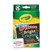 - - - - - - - Washable Dry EraseクレヨンW / e-z消去布、アソートカラー明るい色、8/パック