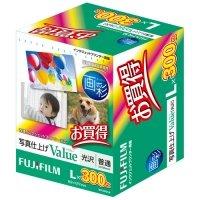 FUJIFILM 画彩 写真仕上げValue 光沢 L判 1箱(300枚)