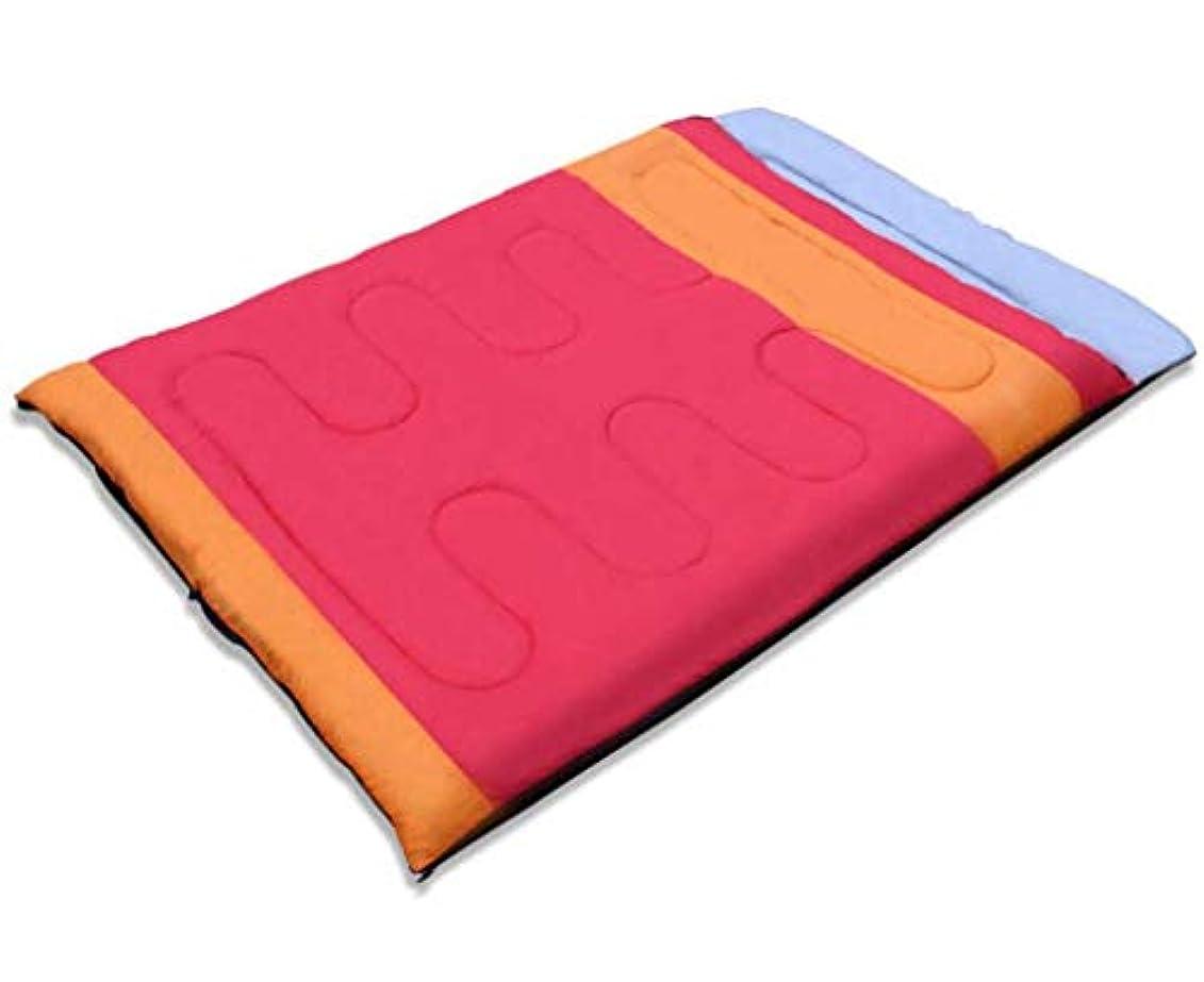 確かにスラム街メモダブル寝袋 肌に優しい 通気性 防水 アウトドア キャンプ ポータブル 4シーズンに最適