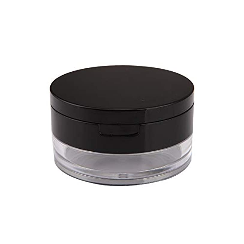 拡声器予備無人鏡付きクリアルースパウダーケース メイク用パフボクス 旅行携帯用パウダー容器 手作りコスメ詰替え容器 スポンジパフ付き小分け容器 (20g)