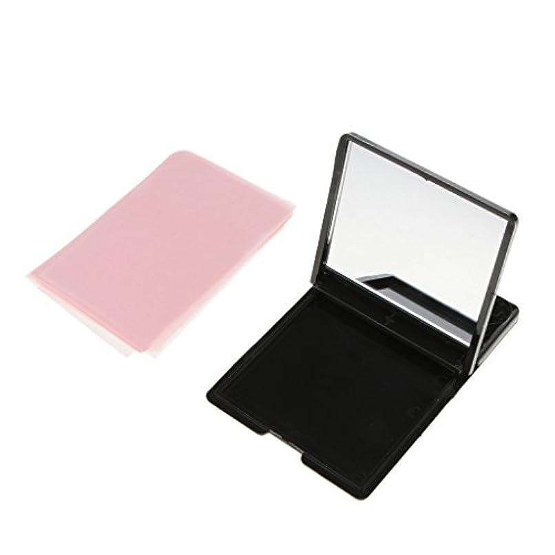 反応する子羊検査Homyl ミラーケース 化粧鏡 あぶらとり紙 オイル吸収ティッシュ 約50枚 メイクアップ 化粧用 スキンケア