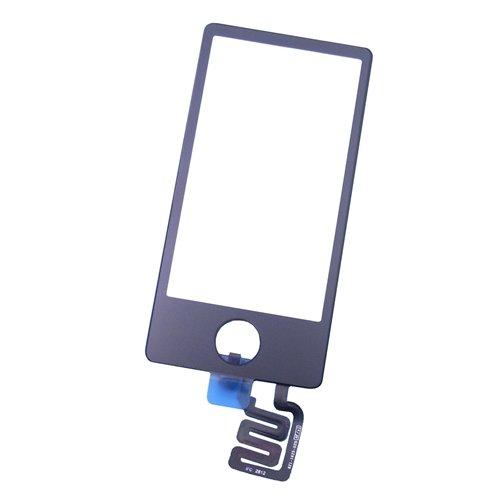 【ガラスパネル+デジタイザー】【Touch Digitizer Glass Screen】for iPod nano 第7世代 7th gen. (ブラック)