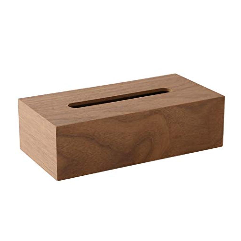 司法純度行く【ティッシュケース?ホルダー】 木製 ティッシュボックス おしゃれな ティッシュケース ティッシュ カバー ケース 可能 ベージュ?ダークブラウン 約26×13×7.5cm (ダークブラウン)