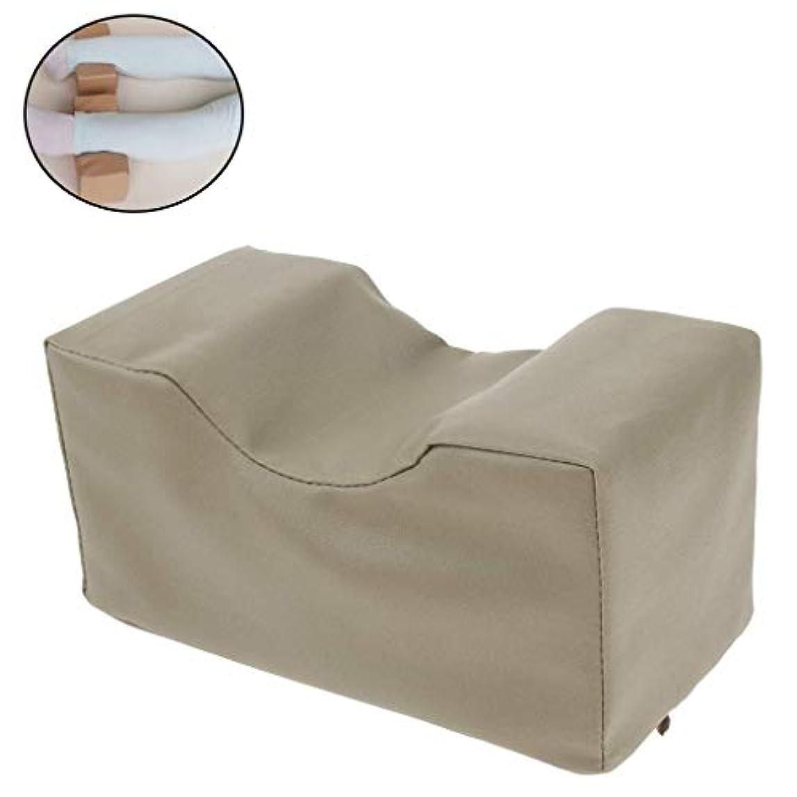 排他的決めます真鍮PUレザーカバー付きフォームニーエレベーターピロー-床ずれ防止、妊娠、ヒップ、脚の疲労軽減用の整形外科用ニーピロー(2個)