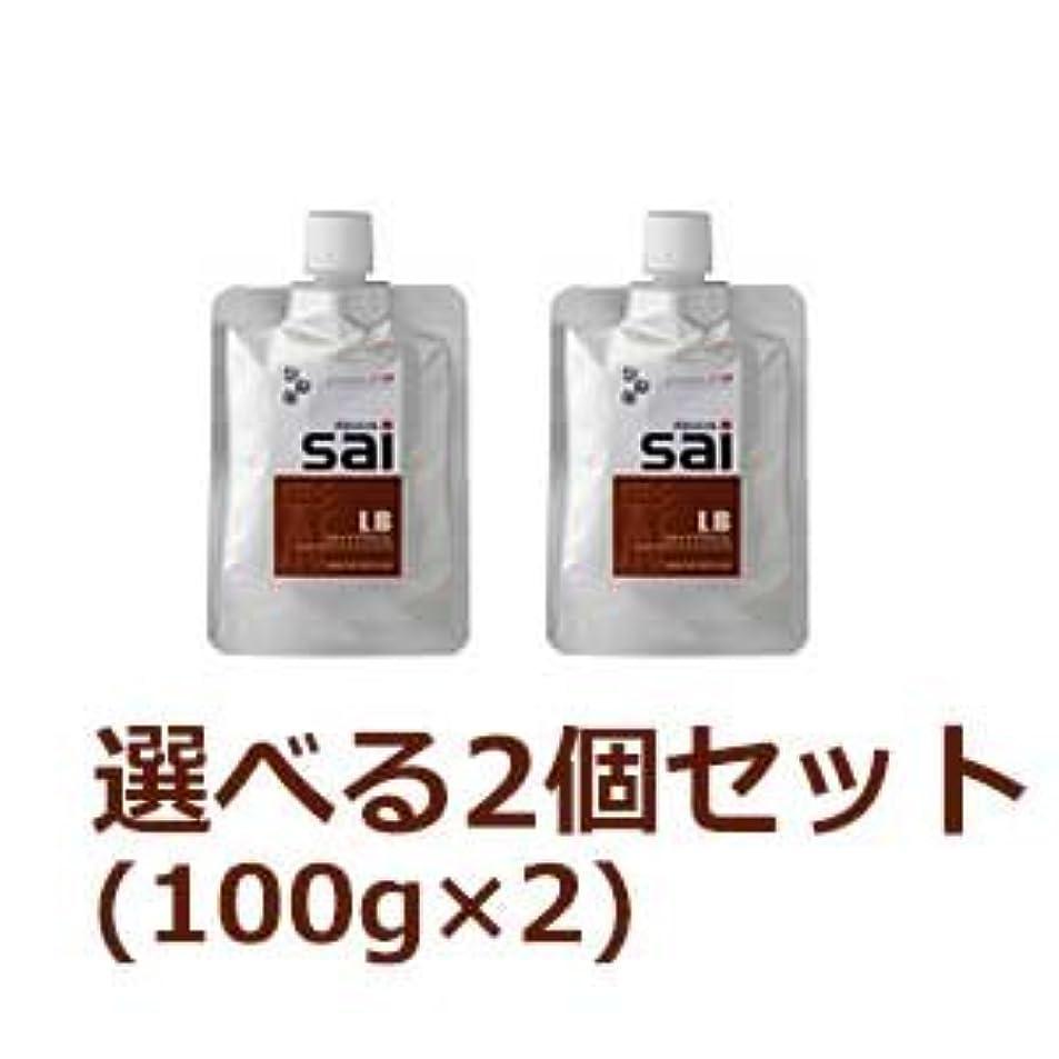 【2個セット】 エムズ ハーブカラートリートメント彩 sai 100g (LB(ライトブラウン) 2個セット)
