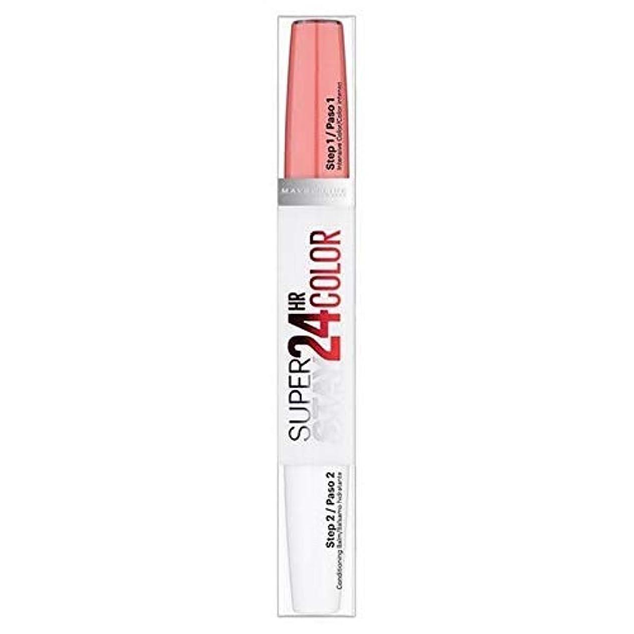 良心温度計感覚[Maybelline ] メイベリンSuperstay 24時間口紅自然フラッシュ - Maybelline Superstay 24HR Lipstick Natural Flush [並行輸入品]