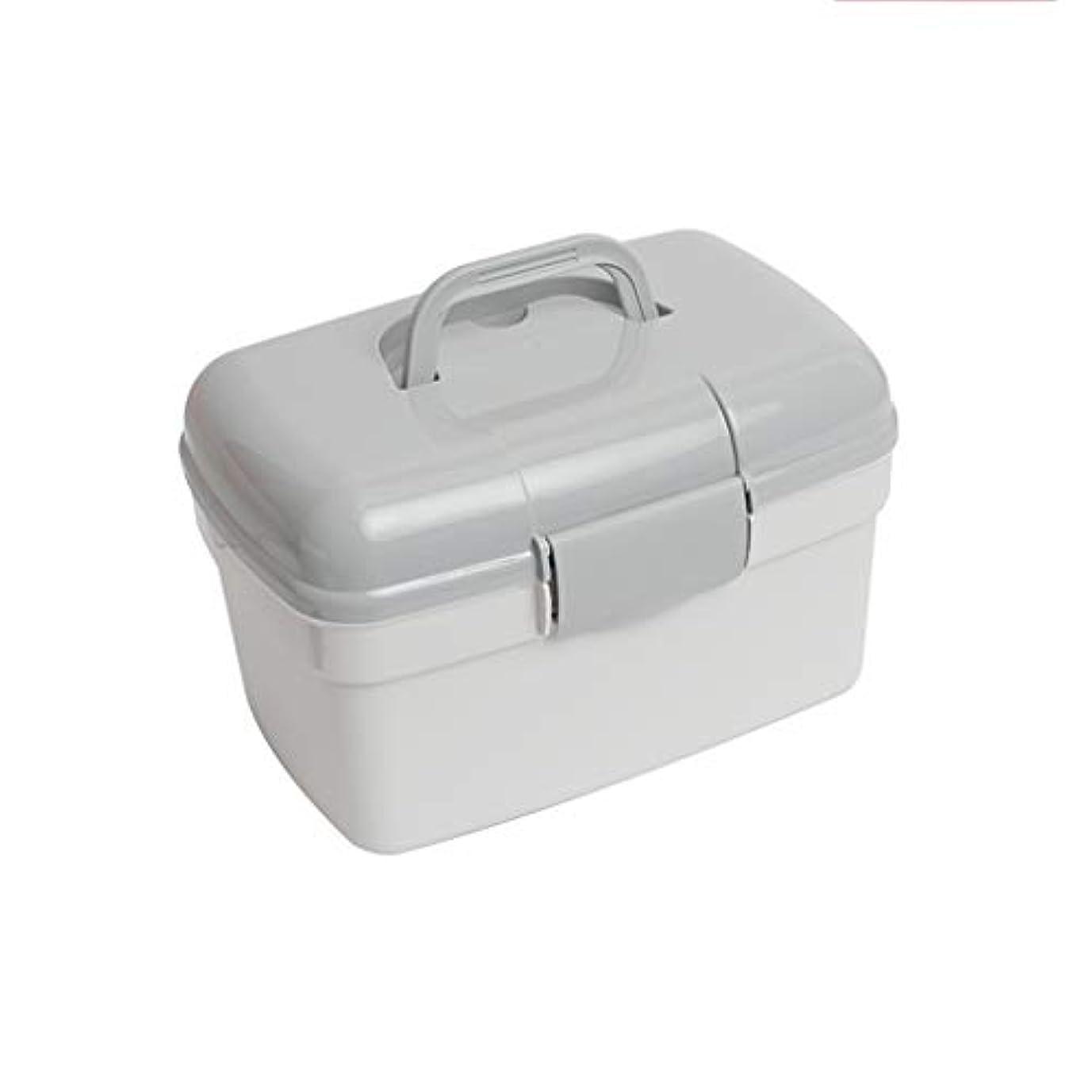 昇る正確に乳製品YYFRB 家族用多層医療キット、プラスチック製医療用収納ボックス、家族用救急箱 医学パッケージ (Color : Gray)