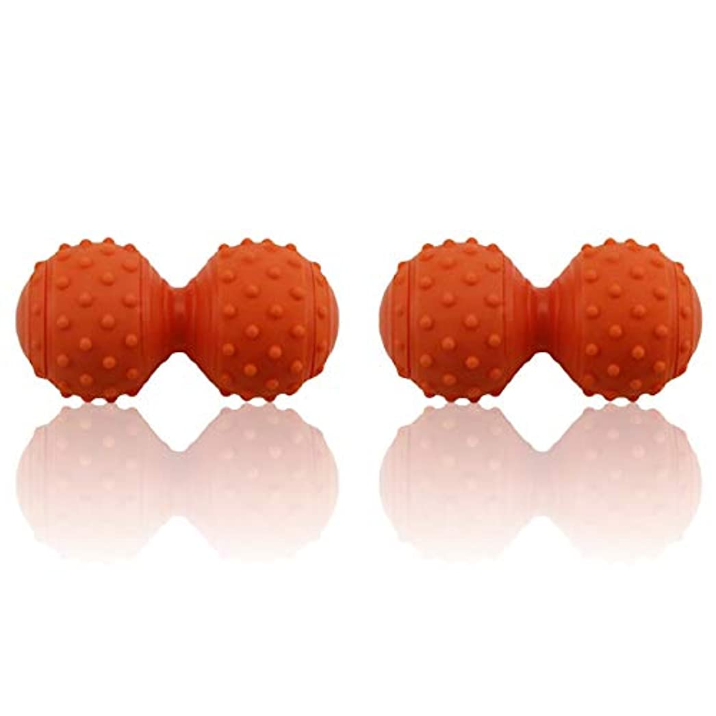 形ショッキングに対応するHAMILO マッサージボール ピーナッツ型 ツボ押し 携帯サイズ 指圧 背中 足つぼ 足裏 手 腰