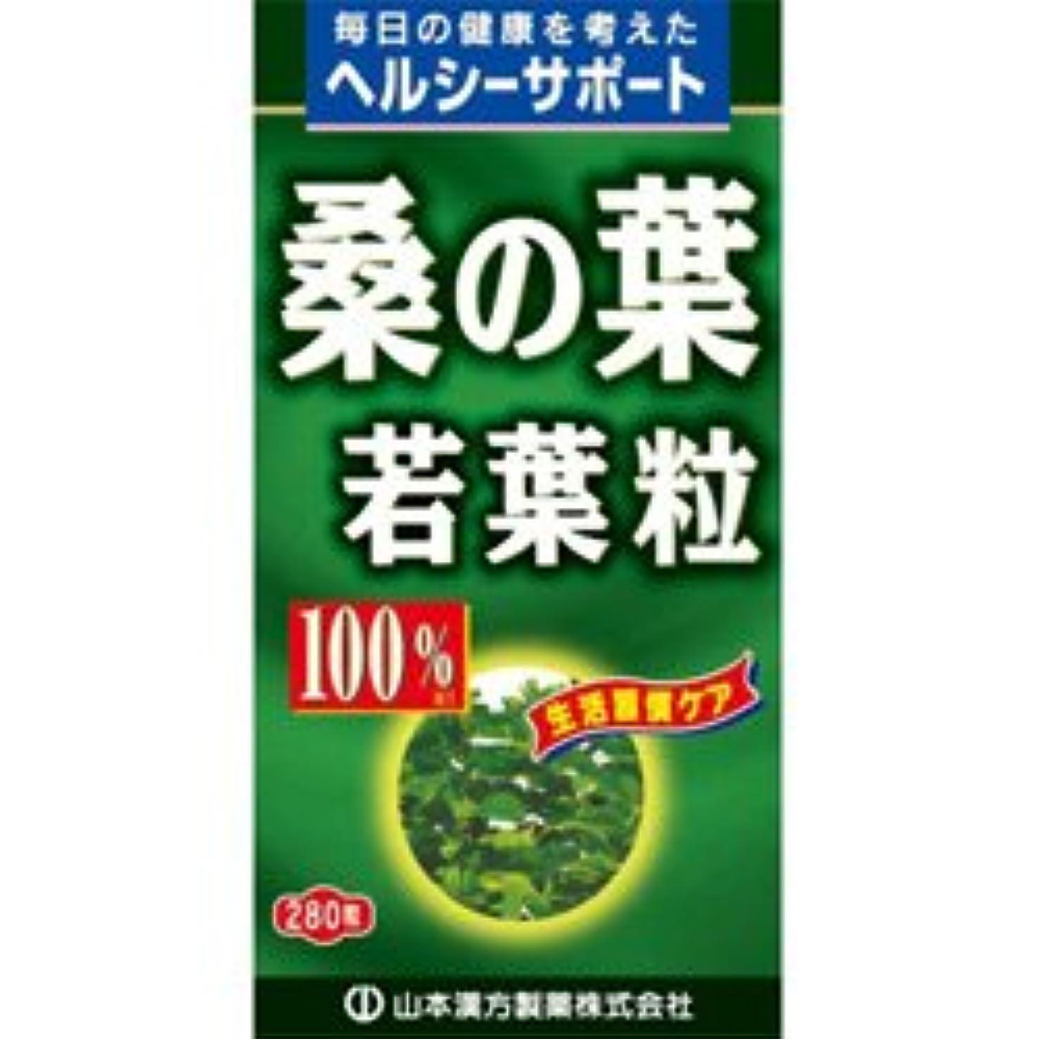 知り合いになる測る細心の【山本漢方製薬】桑の葉粒 100% 280粒 ×10個セット