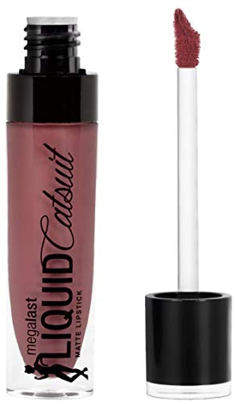 インディカ面甘やかすWet n Wild Megalast Liquid Catsuit Matte Lipstick, Rebel Rose, 6g