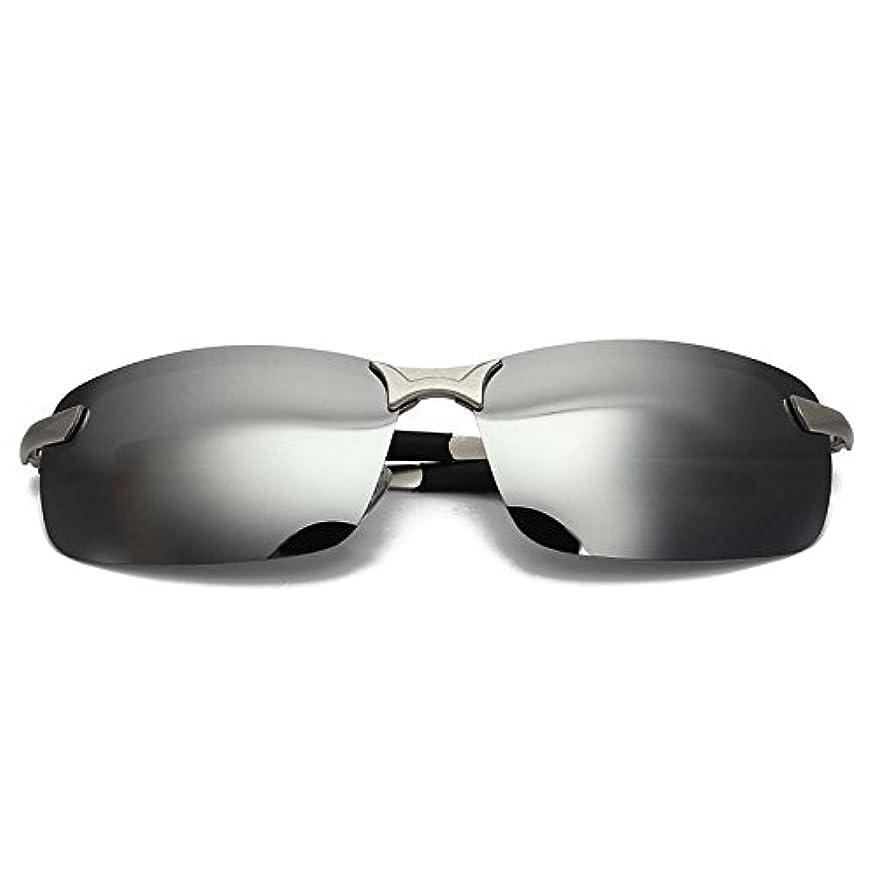 パンダ光電繊維JVSISM 男性のファッション偏光駆動サングラス アンチグレア アウトドアスポーツ UV眼鏡 ウォーターシルバー