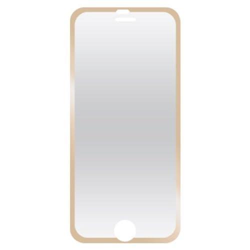 iPhone 6 6s フレーム付 液晶 保護 ガラス フィルム film 強化ガラス iPhone6 iPhone6s 【 ゴールド 金 gold 】 FIP6-04GD
