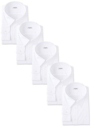 (アトリエサンロクゴ) atelier365 ワイシャツ 形態安定 長袖白Yシャツ全20サイズ 5枚セット/ 6041-set