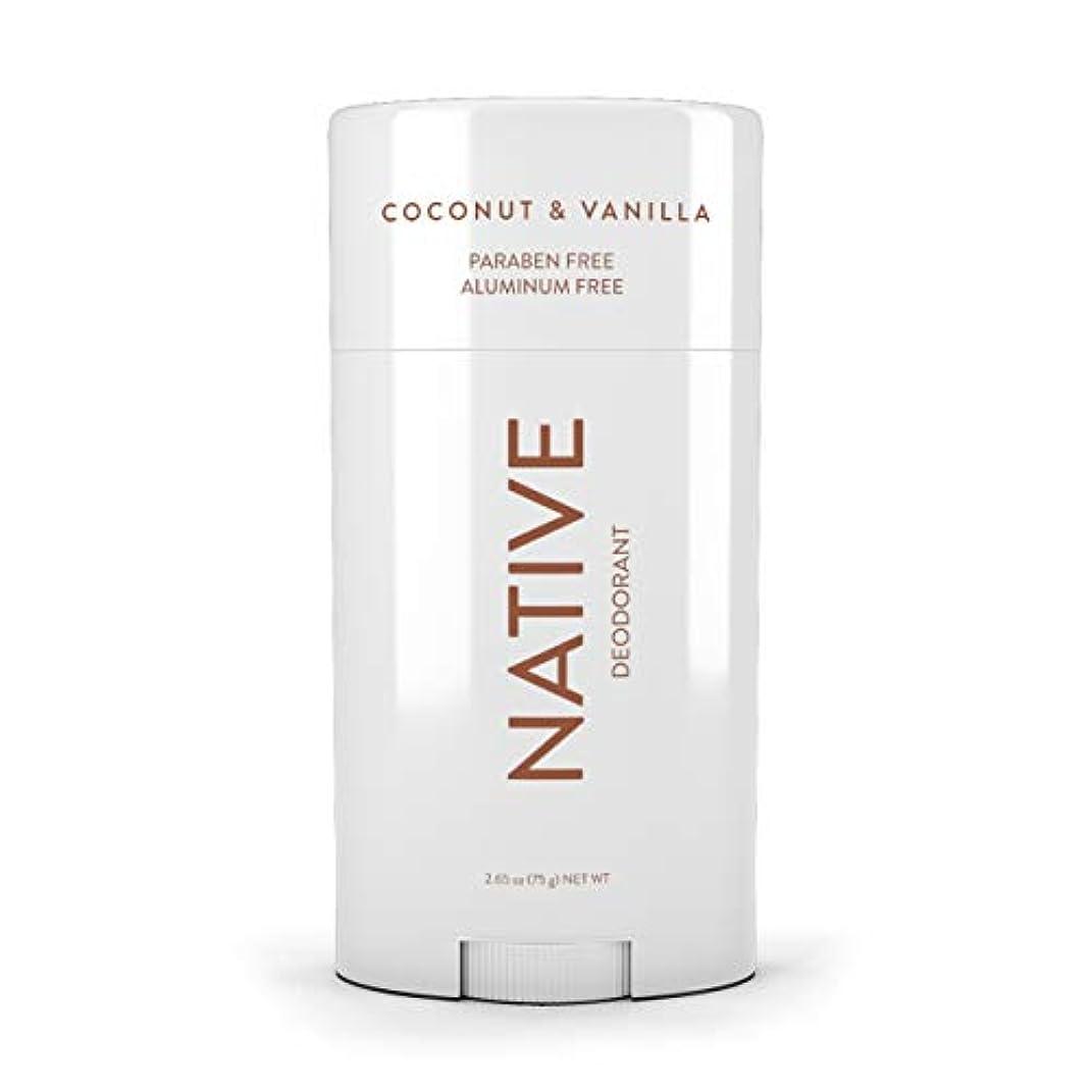 ネイティブ Native ココナッツ & バニラ ナチュラル デオドラント 2.65oz [並行輸入]