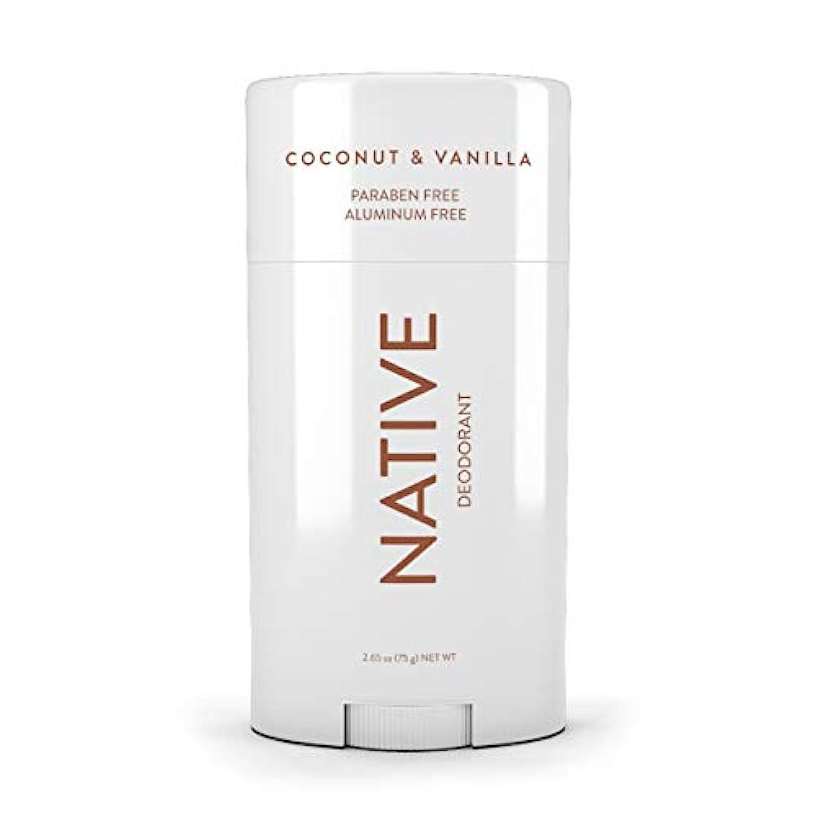 しなやか注ぎます必要条件ネイティブ Native ココナッツ & バニラ ナチュラル デオドラント 2.65oz [並行輸入]