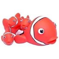Clown Fish Family 4 piece Bath Tub Toy [並行輸入品]