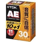 TDK オーディオカセットテープ AE 30分11巻パック [AE-30X11G]