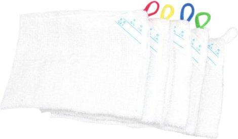 5枚セット ループ付き雑巾 記名タグ付き 綿100%...
