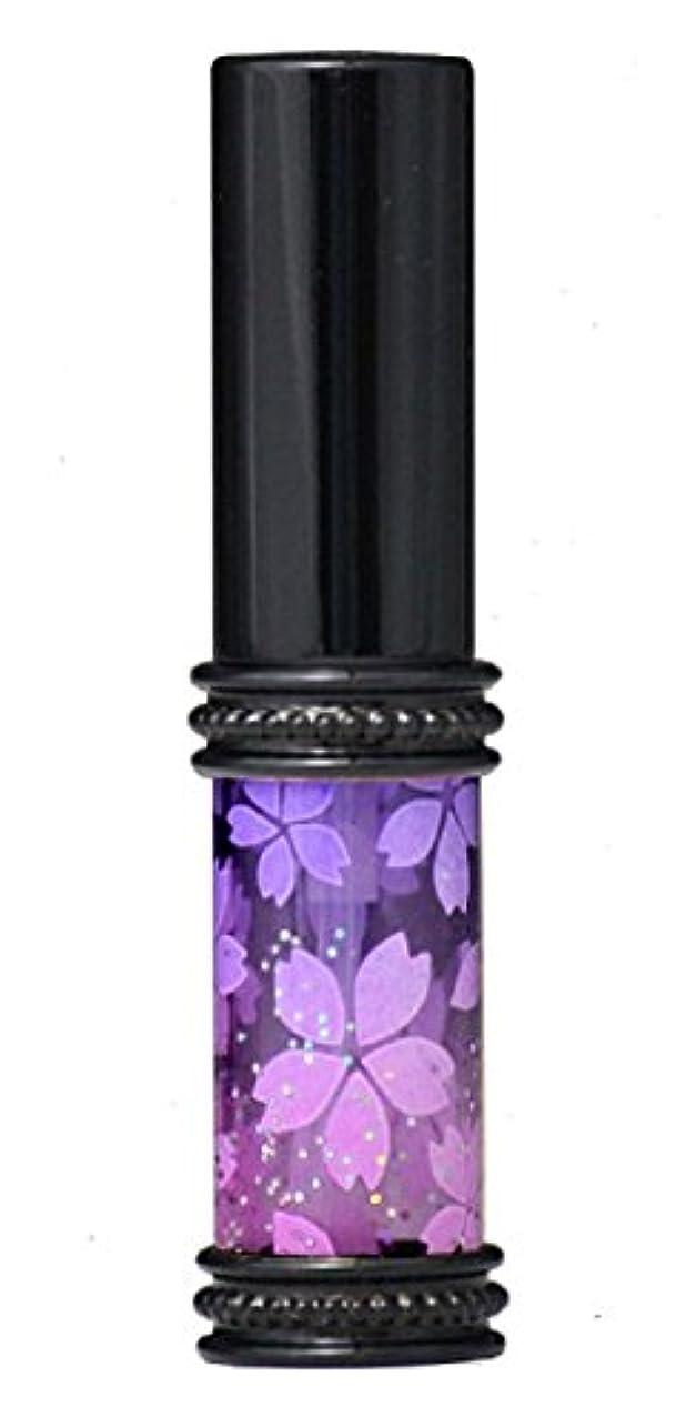 多分花弁分離ヒロセアトマイザー メタルラメさくらアトマイザー 16178 PU/PK(メタルラメさくら パ-プル/ピンク) 真鍮玉レット飾り付