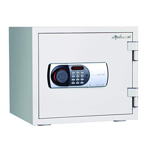 ディプロマット 119EN88 60分耐火金庫 19ℓ テンキー式・警報アラーム付き ホワイト