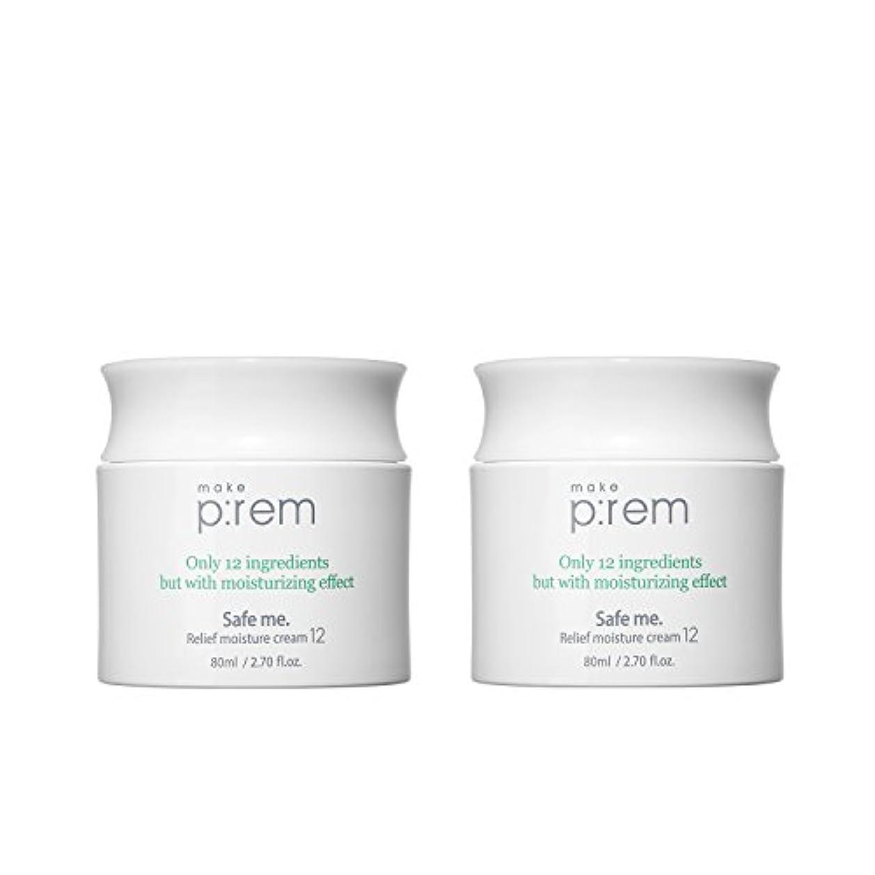 (2個セット) x [MAKE P:REM] メイクプレム セーフミ?リリーフモイスチャークリーム12 80ml / Safe me. Relief moisture Cream 12 80ml / / 韓国製 . 海外直送品
