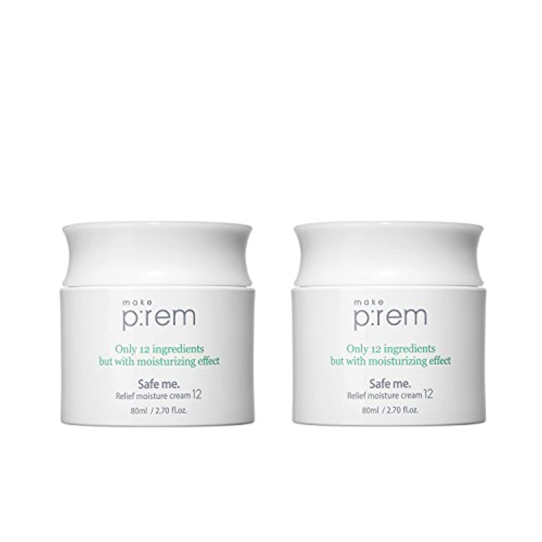 便利番号力学(2個セット) x [MAKE P:REM] メイクプレム セーフミ?リリーフモイスチャークリーム12 80ml / Safe me. Relief moisture Cream 12 80ml / / 韓国製 . 海外直送品