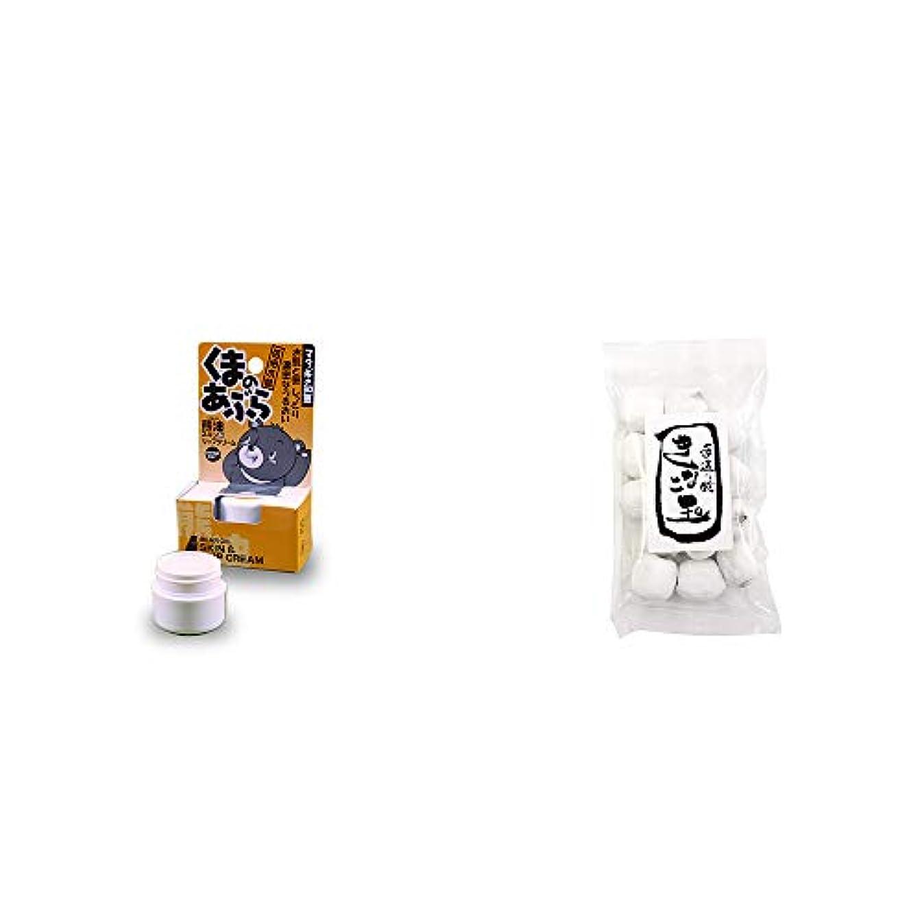 [2点セット] 信州木曽 くまのあぶら 熊油スキン&リップクリーム(9g)?きなこ玉(160g)