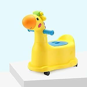 おまる 便座 子ども トイレトレーナー 子供用 赤ちゃん便器 イス型おまる おしこ ウンコ子ども便 (イエロー)