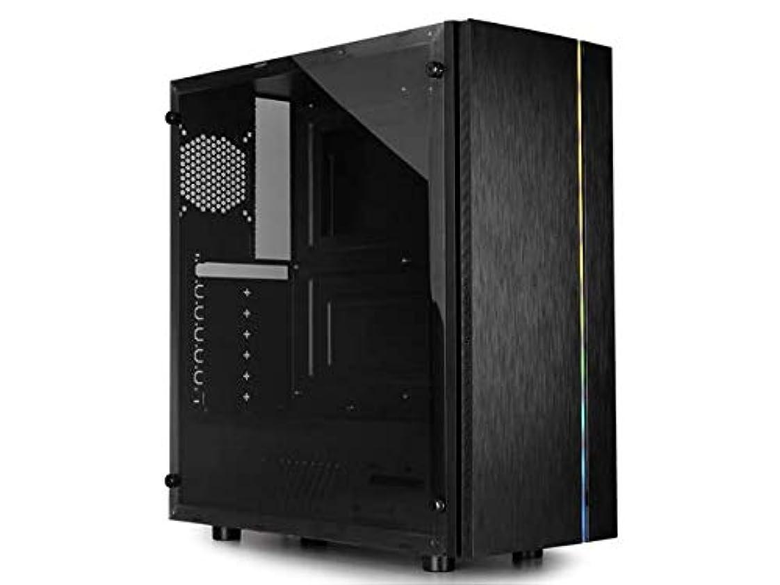 完璧な投げ捨てる人里離れたRaidmax Blazar ATX ミッドタワー PC ゲームコンピューターケース つや消しフロントパネル ARGB LEDストリップ